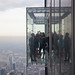 Glass box up in the air at Skydeck Chicago