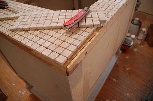 Tile Vanity Top : Weeknight tile project vanity top diydiva