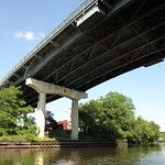 Eastchester Bridge over Hutchinson River, Bronx, New York City