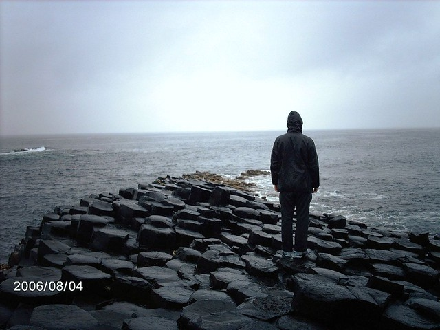 Vista dalla Giants Causeway in Irlanda del Nord