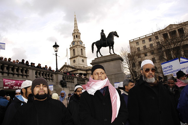 trafalgar muslim Press release 11th october 2008–thousands of people came to the capital today to mark the muslim festival of eid al-fitr at london's trafalgar square.
