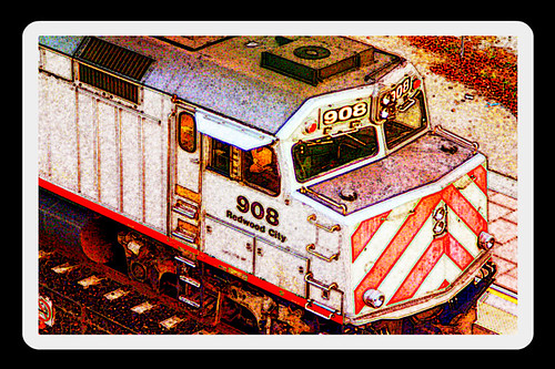 Fresco of CalTrain