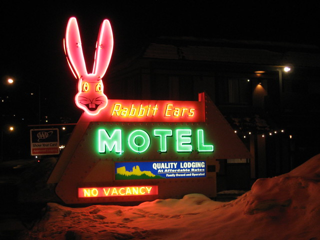 Rabbit Ears Motel - 201 Lincoln Avenue, Steamboat Springs, Colorado U.S.A.