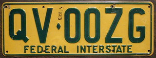 QUEENSLAND, AUSTRALIA c. 1987 INTERSTATE TRUCK plate