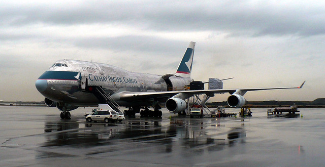 Cathay Pacific 747 Cargo aircraft sitting on the ramp @ YVR