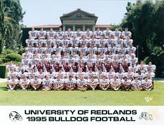 U of Redlands Football Team - 1995