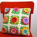 rosy posy cushion