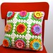 rosy posy cushion by sarah london textiles