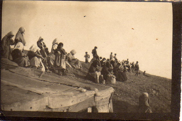 (Greek?) women watching from a ridge, 1915