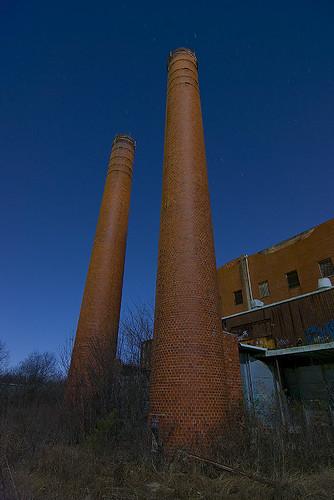 lake abandoned night texas smoke echo fortworth stacks incinerator