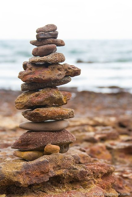 Pebble Tower by Beach