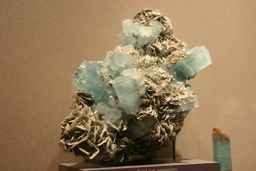 Beryl (var. aquamarine) with muscovite