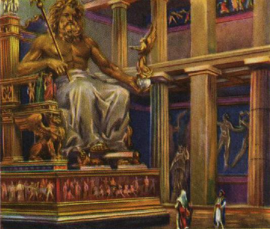 Temos a impressão de que se Zeus se levantasse, destelharia o templo