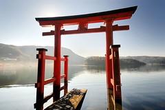 Hakone Shrine Torii in Lake Ashi