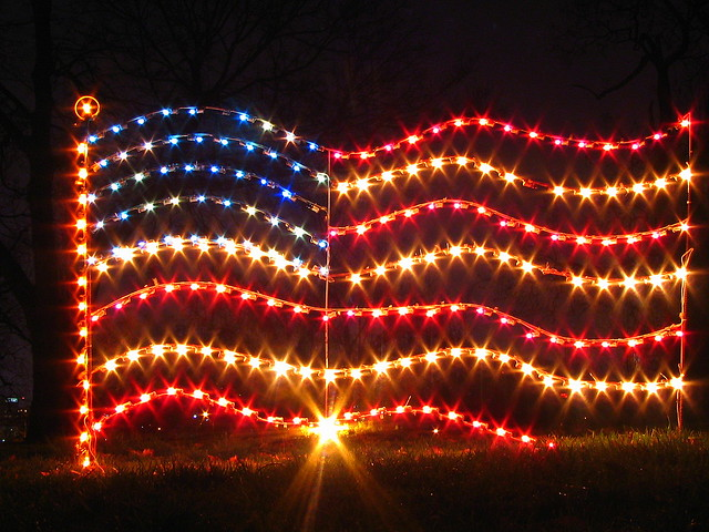 Christmas at centennial park 9 u s flag lights flickr photo