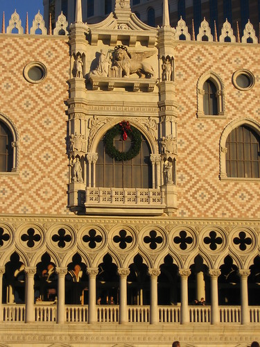 Venetian exterior (w/holiday decorations)