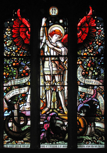 St Michael slaying the dragon