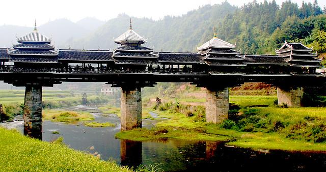 Puente del Viento y la Lluvia. Chengyang. Provincia de Guangxi. China.