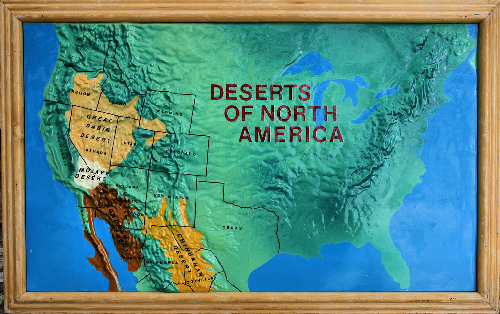 Deserts Of North America This Was A Map That Was On Displa Flickr