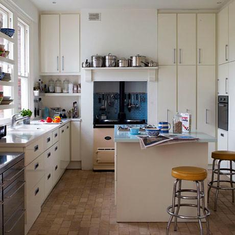 Kitchenisms via Decorology {white vintage rustic modern kitchen}