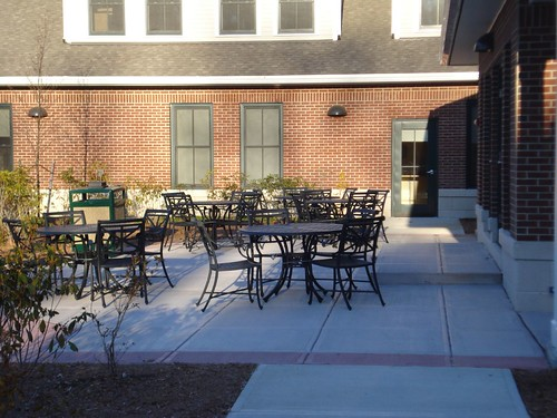 Senior Center: Back patio