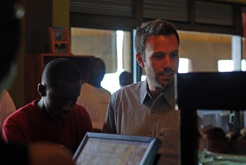 Ben Affleck at a cafe in Kigali, Rwanda