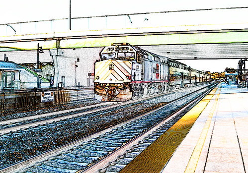 CalTrain Color Sketch