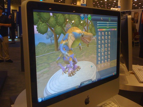 Computer screen displaying Spore's creature creator