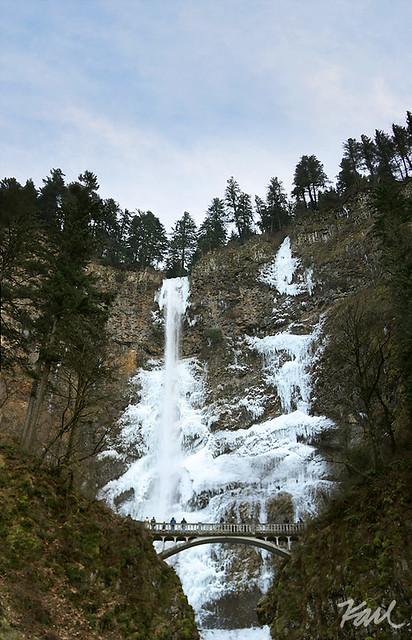 Frozen Multnomah Falls pano   Flickr - Photo Sharing!