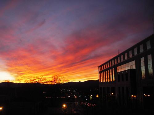 sun set asheville north carolina