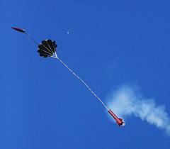 parachute, sports, blue, sky, flight,