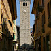 The bell tower in Cannobio, Italy