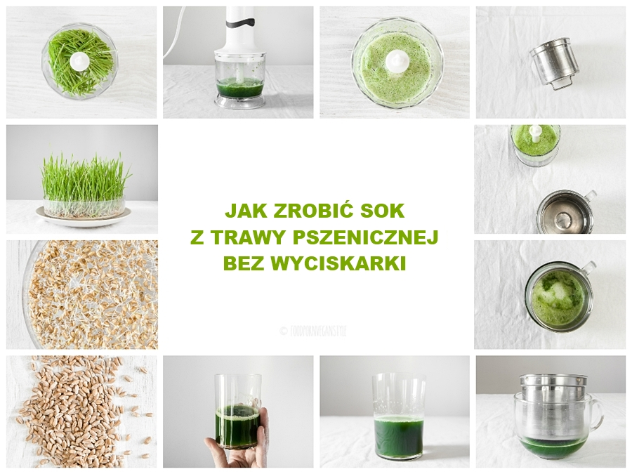 How to make wheatgrass juice without a juicer