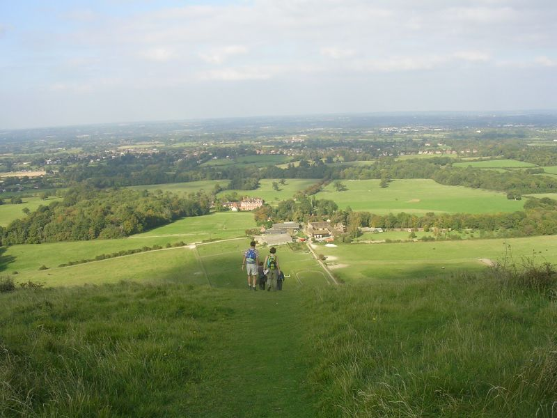 Vertiginous descent Woolstonbury Hill Burgess Hill to Hassocks
