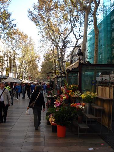 Flower Stalls in La Rambla Barcelona