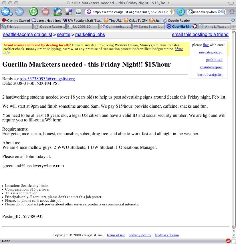 Advertises On Craigslist Oh The Irony Flickr Photo Sharing