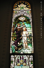 Baptism of Jesus Stained Glass Window