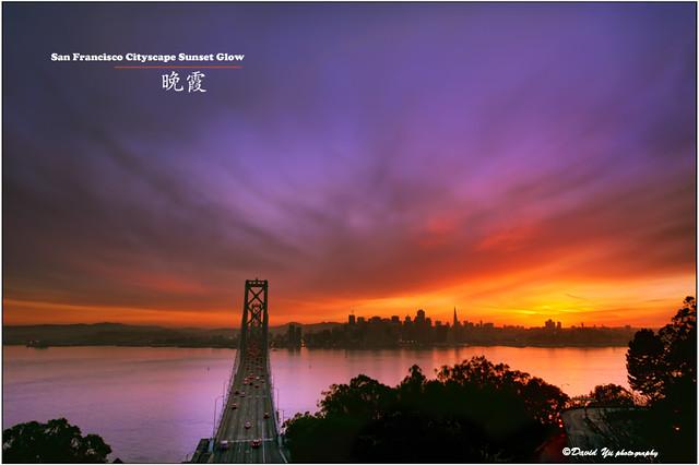 San Francisco Cityscape Sunset Glow