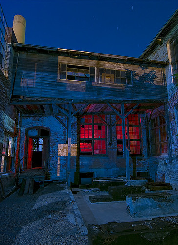 mill abandoned night ruins texas cotton strobe mckinney