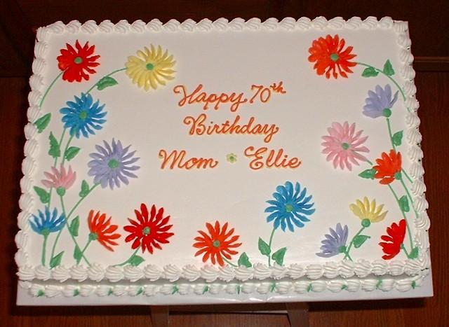 Happy Birthday Cake With Daisies