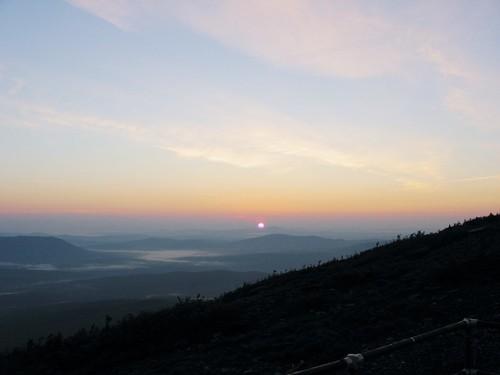 sun nature silhouette sunrise skyscape landscape maine sugarloafmountain
