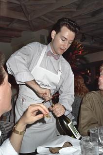 Waiter at the original Spago