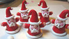 Cone Santa mini ornaments