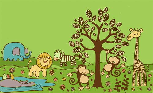 2127507839 for Baby jungle mural