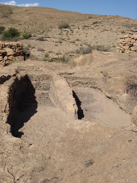 Rock-cut tombs in Laamda, Ah Frah, Aures, Algeria قبور أثرية محفورة في الصخر ببني فرح
