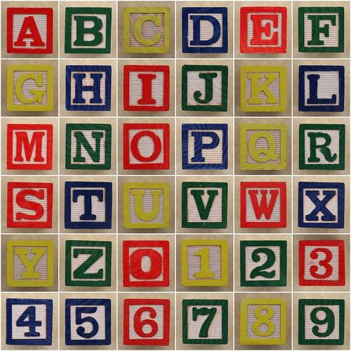 Educational Block Alphabet