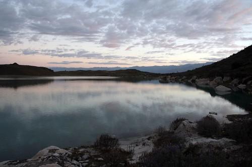 sunset lake peru andes ancash keushu