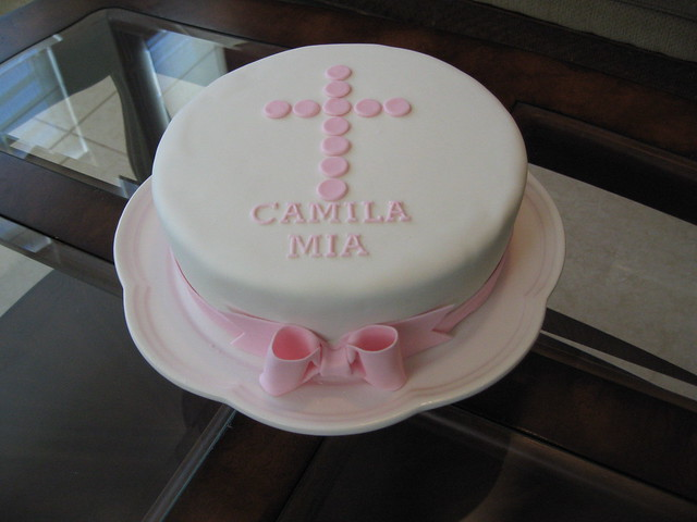Christening Cake Design For Baby Girl : Baby Girl Christening Cake Flickr - Photo Sharing!
