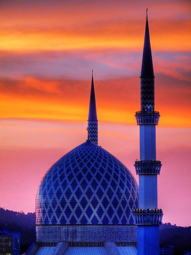 sunset architecture landscape lumix islam panasonic malaysia selangor shahalam fz28 dmcfz28 ishafizan