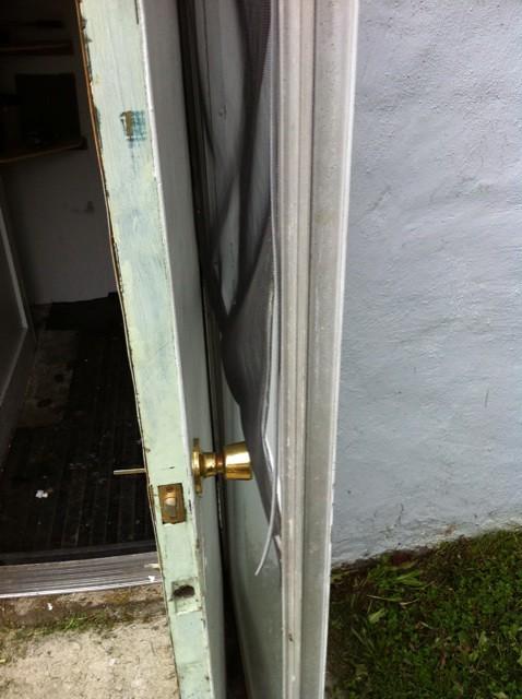basement door has a storm door but it swings outward som flickr